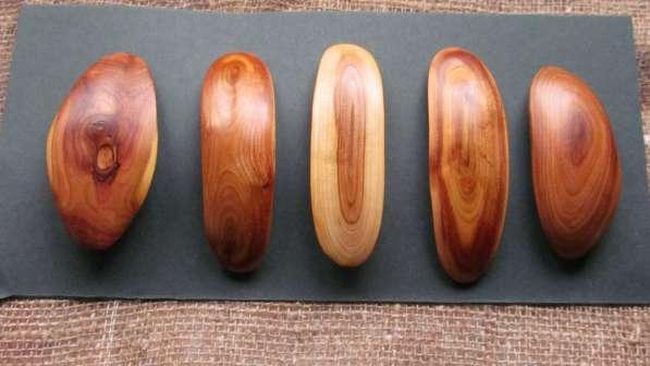 Заколки для волос из текстурной древесины
