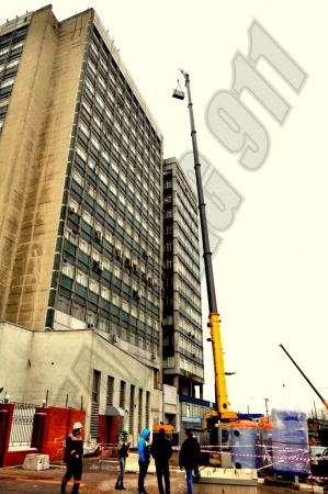 Высотный такелаж, подача в окно, на крышу, проём в стене, Москва