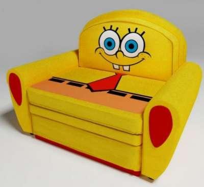 Спанч Боб диванчик раскладной желтый