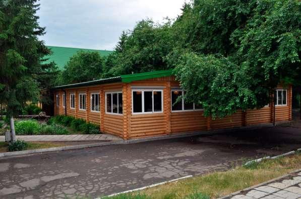 Срубы домов, бань из оцилиндрованного бревна в Омске фото 5