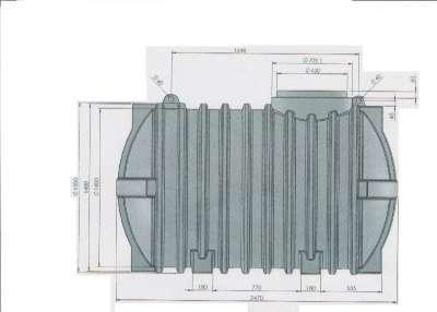 Резервуар полиэтиленовый от 10 до 50 куб Алсид T-030 PE UG-v