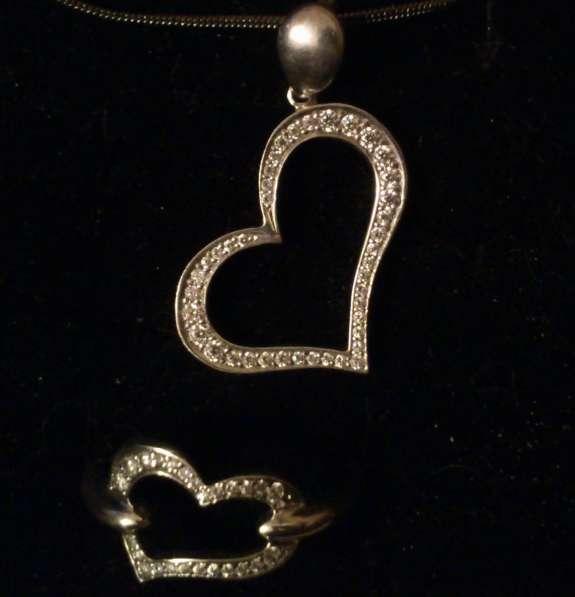 Гарнитур подвеска и кольцо из серебра