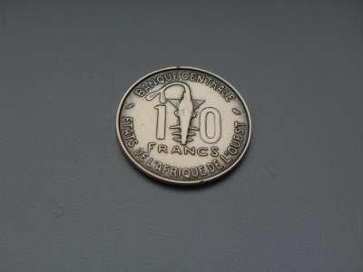 Монета 10 Франков Западная Африка 1971 год