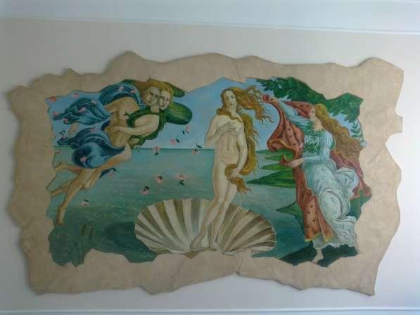 Декор. штукатурка, картины, роспись стен, барельефы