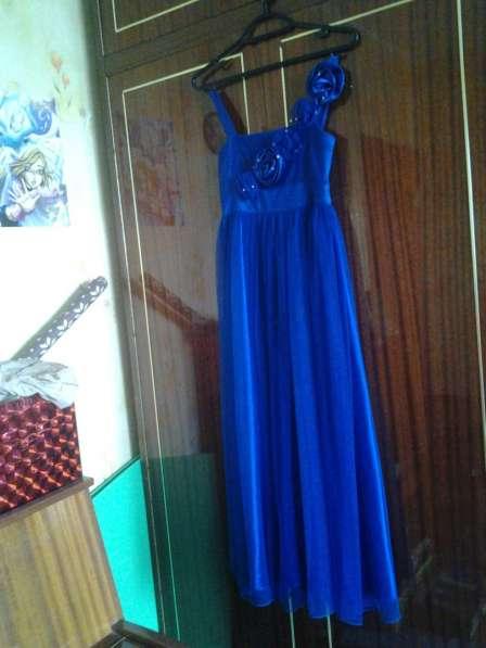 Синее длинное платье в Снежинске фото 4