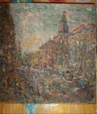"""х/м """"Невский проспект"""" 1993г."""