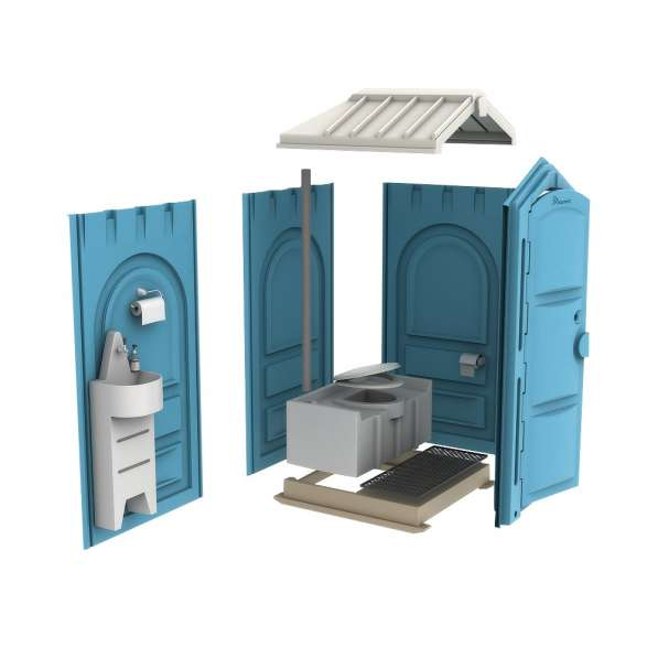 Новая туалетная кабина Ecostyle - экономьте деньги! Афины в фото 4