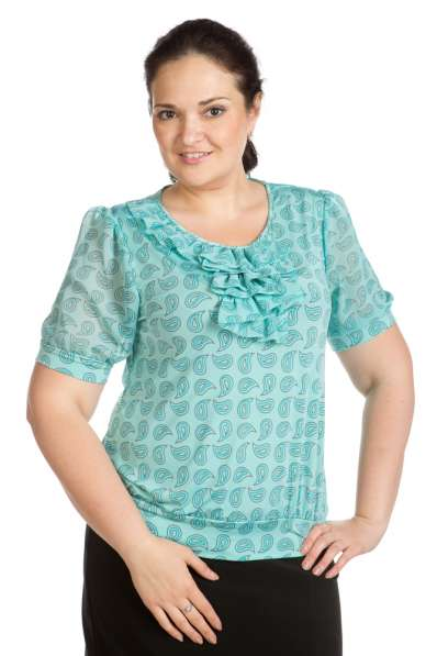 Женские блузки масло комбинированное с шифоном