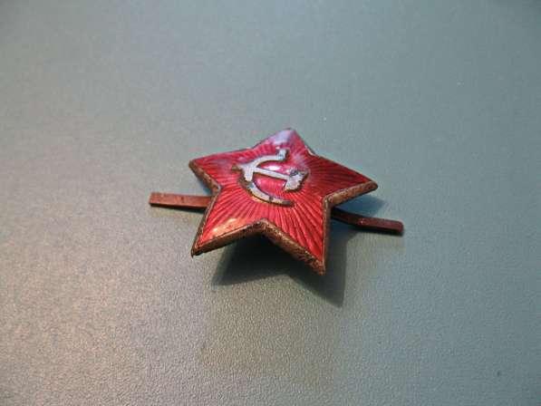 Звезда на фуражку Ркка и Советской Армии (40-50-е годы) в фото 5