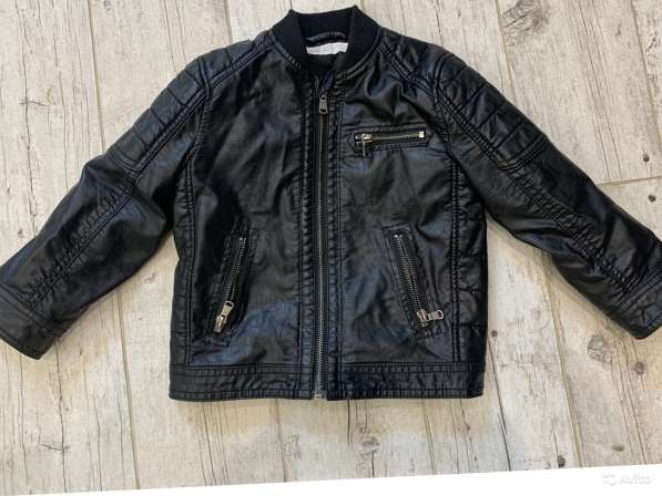Куртка кожаная HM для мальчика р-р104