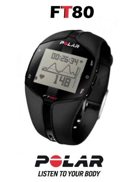 Спортивные часы-пульсометр Polar FT80.