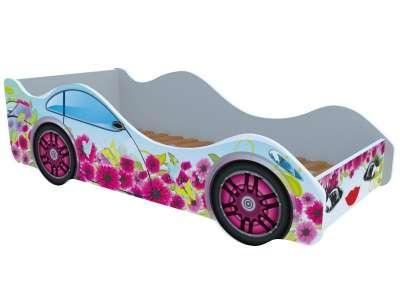 Кроватка машинка Цветочный рай