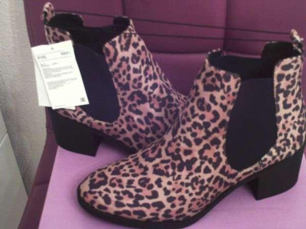 Ботинки челси с леопардовым рисунком