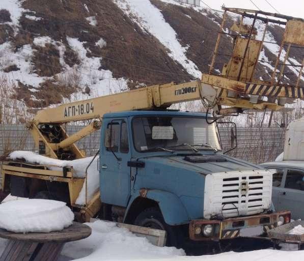 Автовышка телескоп вездеход агп-18.04