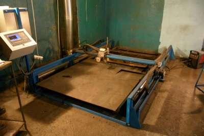 Портальный станок плазменной резки метал