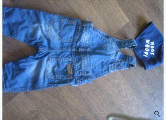 Продам детский джинсовый комбинзон zara в Новосибирске фото 3