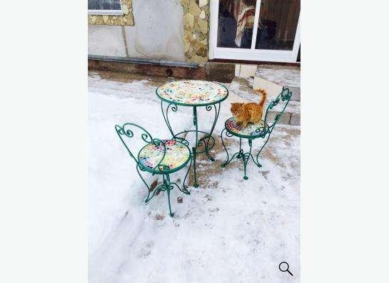 Мебель кованная мансардная садовая