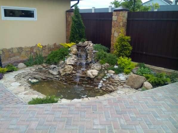 ландшафтное проектирование, воплощение, уход за садом.