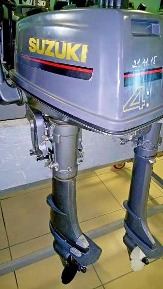 Продам лодочный мотор SUZUKI 4, нога S (381мм)
