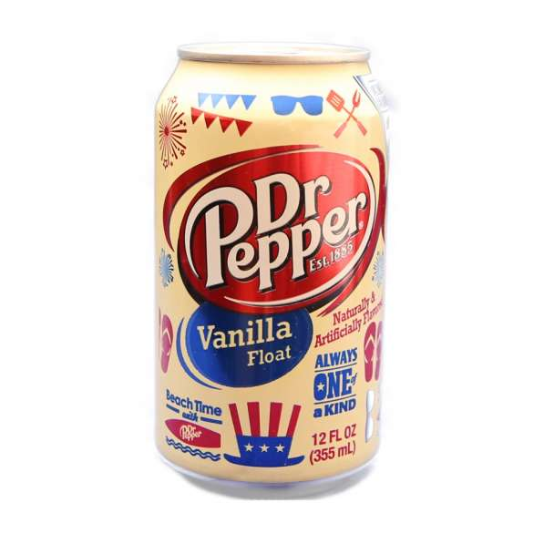 Dr.Pepper Vanilla Float в жестяной банке, США