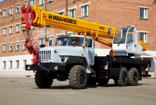 Аренда автокрана 25 тонн 21 метров ВЕЗДЕХОД