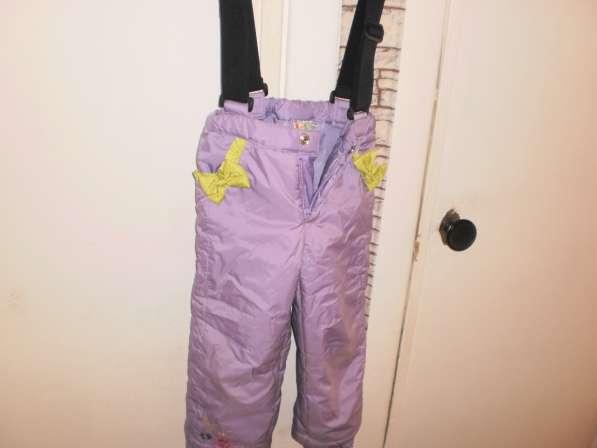 Утепленные штаны на лямках