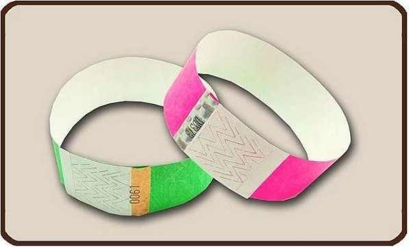 браслеты бумажные контрольные ленточки