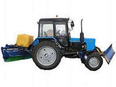 Аренда трактора мтз со щеткой с увлажнением