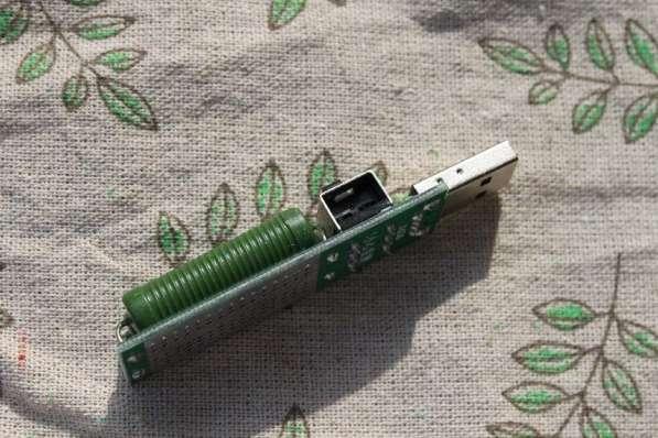 Нагрузочный резистор USB, ток 1A, 2A с переключателем