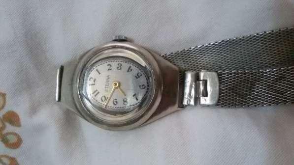 серебряные швейцарские часы eterna 1939 года