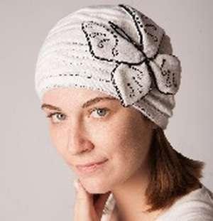 Женская трикотажная шапка модель 417а