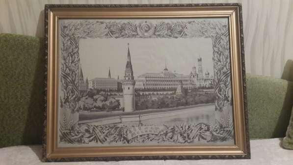 Панно шелковое Кремль.800летие Москвы.1947года