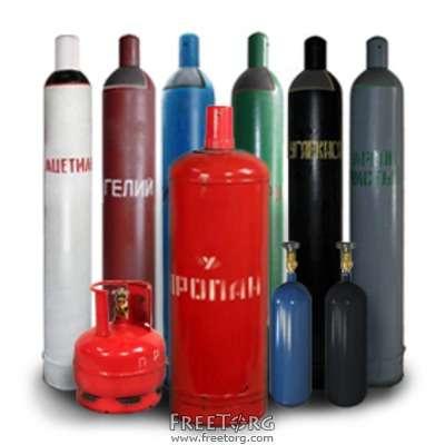 Кислород,пропан,ацетилен,аргон,азот,углекислота