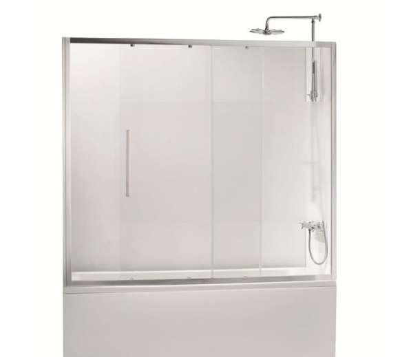 Ширма (шторка) на ванну фронтальная, 150х150 см, хром