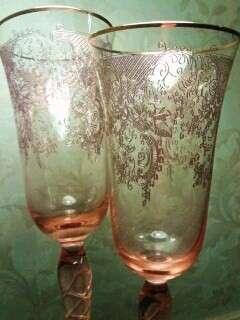 фужеры из розового хрусталя в Санкт-Петербурге