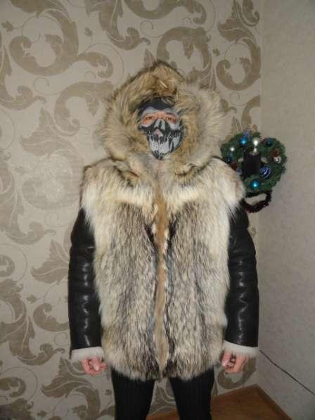 Шуба мужская,волк