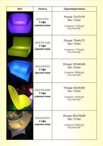 Предлагаем светодиодную декоративную мебель и атрибуты интерьера во Владивостоке в Владивостоке фото 10