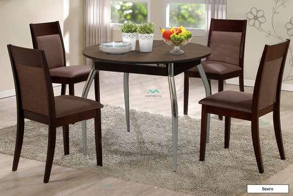 Стол обеденный раздвижной круглый 900 мм