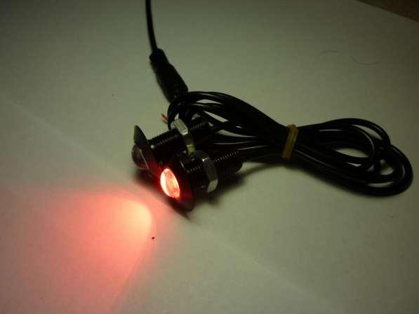 Светодиодные огни 13-23мм красный свет черный кор