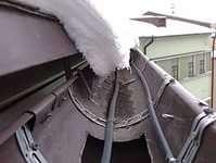 Греющий кабель. Обогрев крыши. Обогрев водостоков