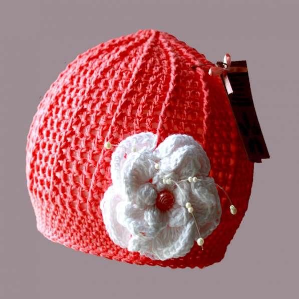 Летняя ажурная шапочка с цветком