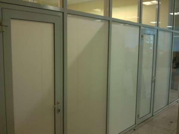 Матирование стеклянных перегородок