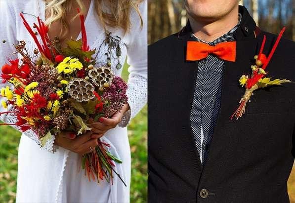 Букеты невесты .Бутоньерки