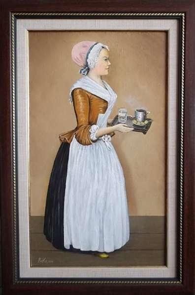 Моя Шоколадница - Лариса Гузеева - картина маслом