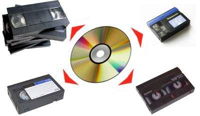 Оцифровка видеокассет на DVD, флешки