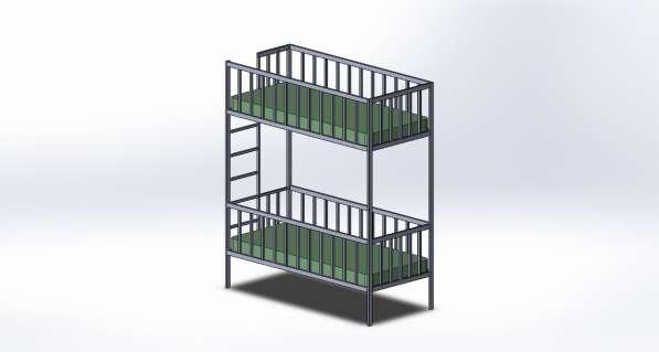 Двухярусная кровать по вашему проекту.