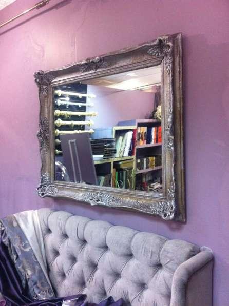 зеркало в багете ,антикварное .уникальное ,резное
