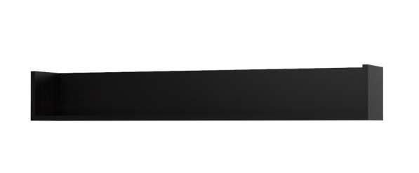 две новые книжные полки (длина 152 см и 129 см), черные