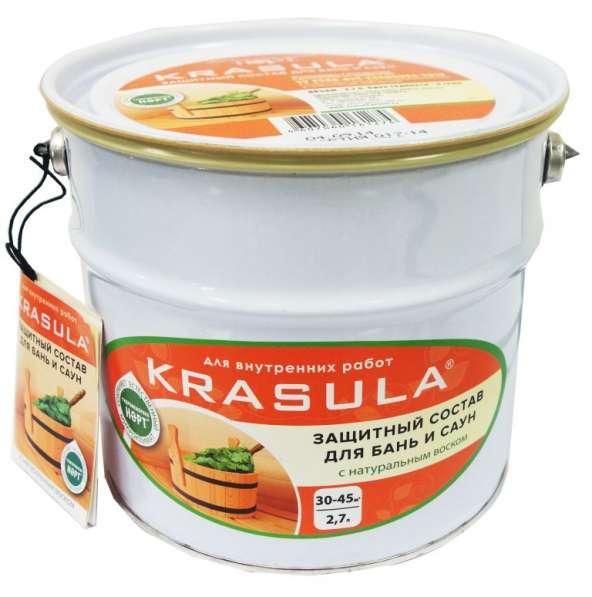 Защитный состав для бань и саун, пропитка с натуральным воском.