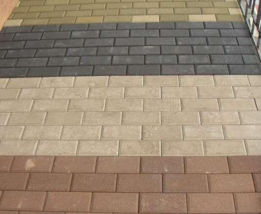 Тротуарная плитка, бордюрные камни и навершия.